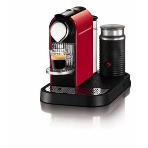 red espresso maker