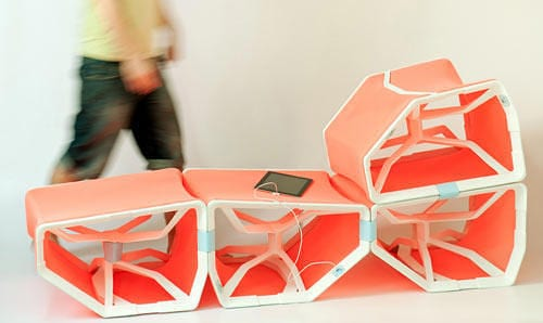 Segment Modular Seats by Noam Fass Come with Gadget Charging Abilities