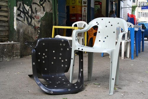 bullet hole chairs