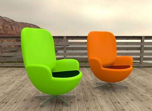 dayglo patio chairs