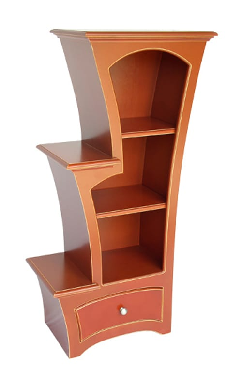 bright furniture, boldly colored furniture, experimental furniture, bright birch furniture, cabinet, armoire, shelves, side table, nightstand, wine rack, eco-friendly furniture, sustainable materials, dust collection, vincent leman
