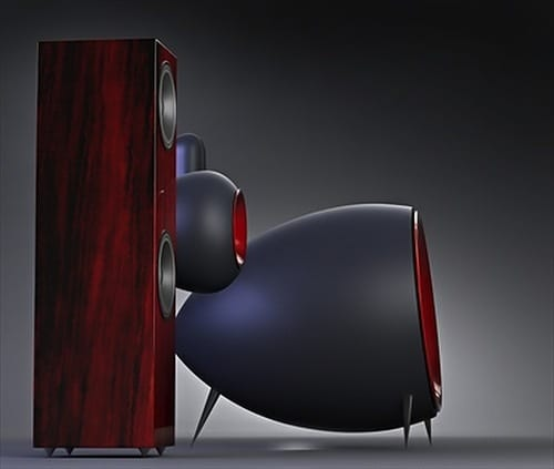 modern wooden speakers