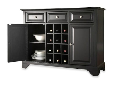 Solid Hardwood Buffet Server And Sideboard Cabinet 9