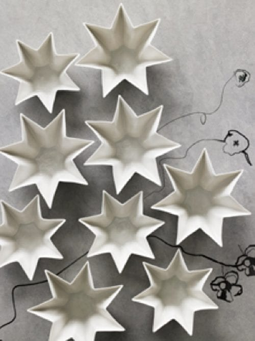 star shaped candle holders