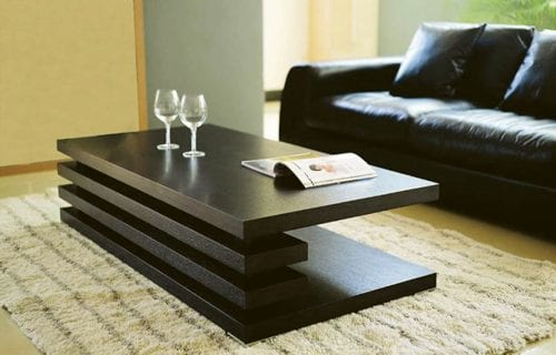 dark modern coffee table