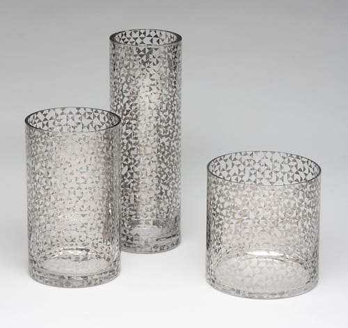 Gold And Silver Glass Vase Collection Is Perfect For Table Decor