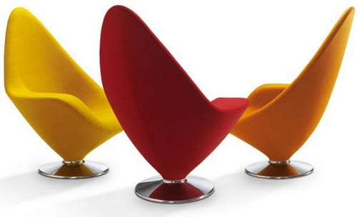 bright colored side chairs