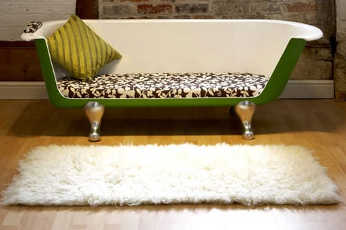 couch made from bathtub