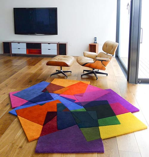 bright and bold area rug