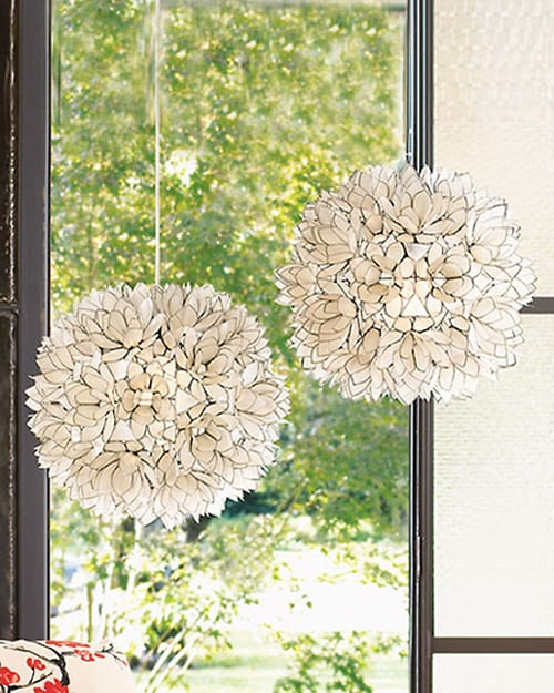 Lotus Flower Hanging Lamps from Neiman Marcus