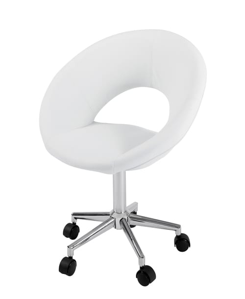 retro white desk chair