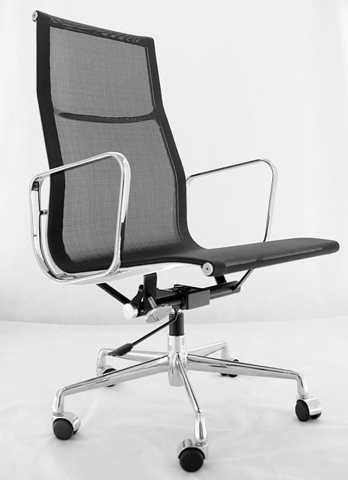 aluminum plated Eames chair