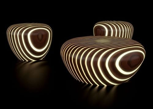 illuminated outdoor furniture
