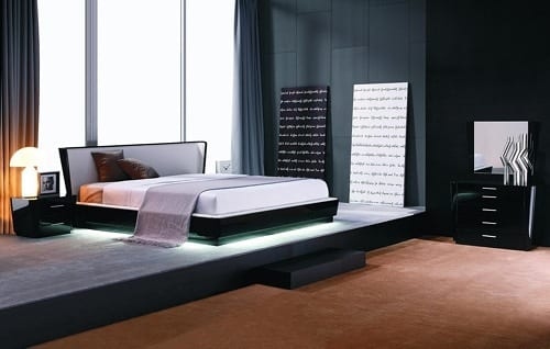 modern lacquered bed