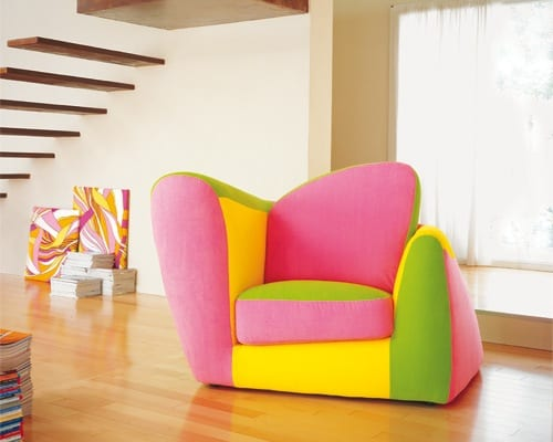 neon armchair for kids
