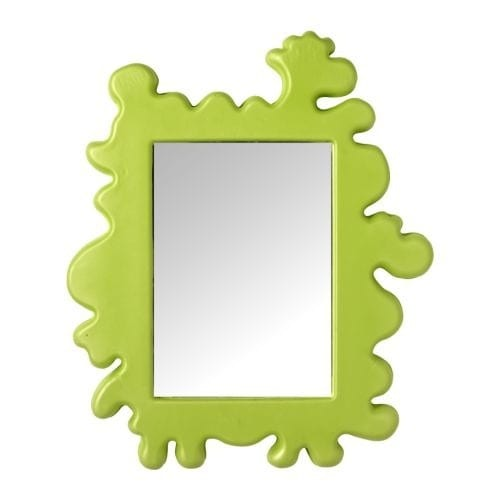 green slime wall mirror