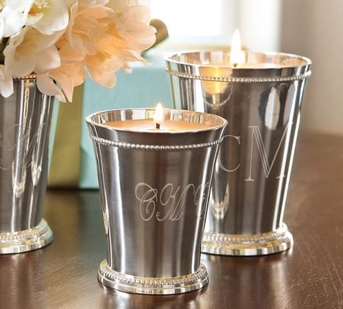 julep cup candle holders