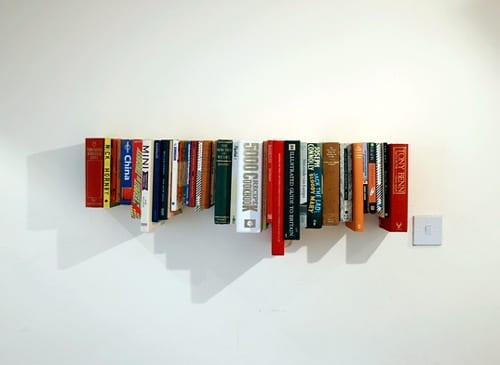 nontraditional bookshelves