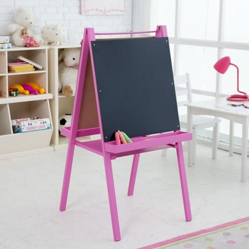 pink chalkboard stand