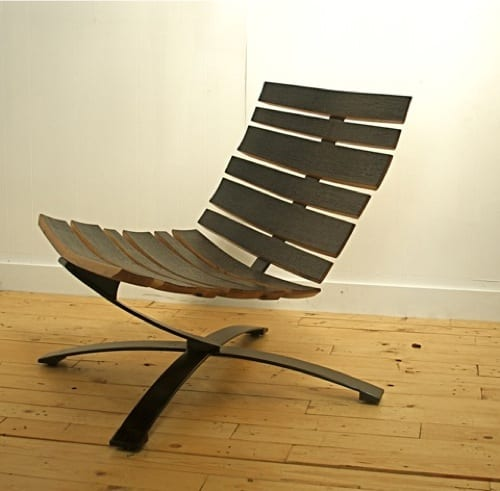 chair made from barrel