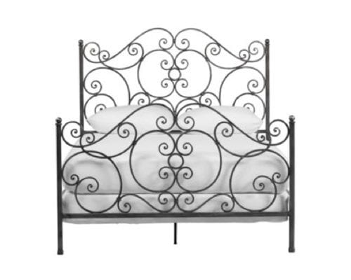 ethan allen wrought iron bed
