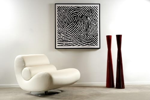 personalized fingerprint made into wall art