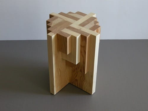 Four Artfully Handcrafted Wood Pedestals