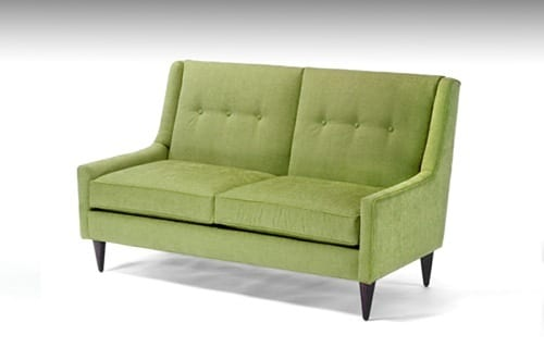 lime green loveseat