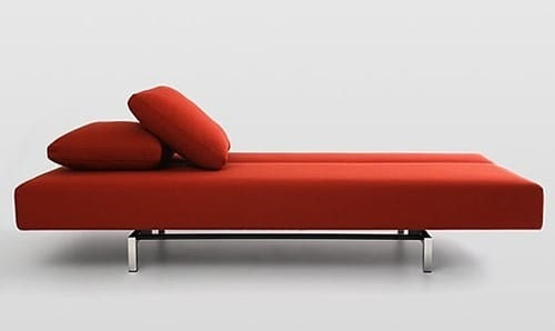 red day bed