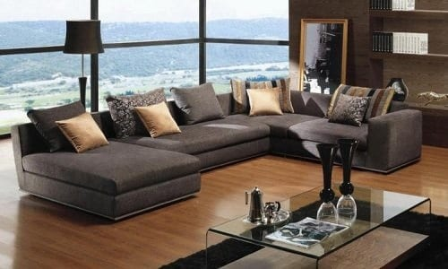 grey wraparound sectional