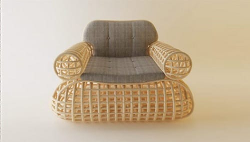 woven lounge chair