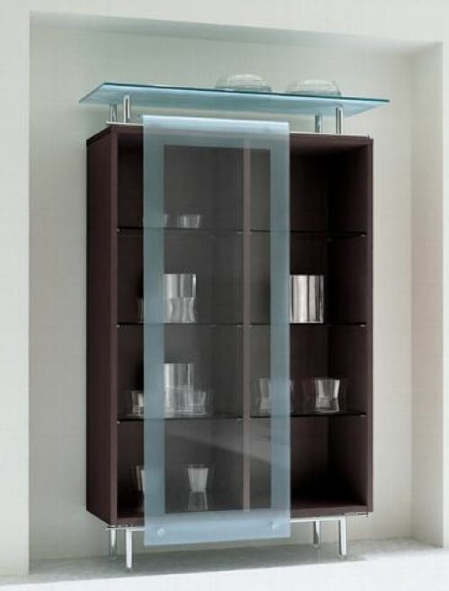 sliding glass door curio cabinet