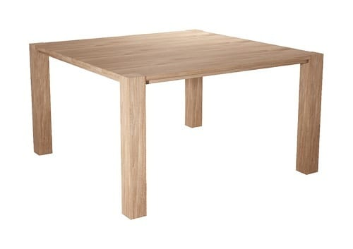 square wooden dining room table