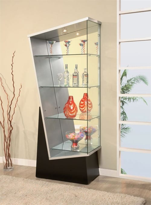 abstract modern display cabinet