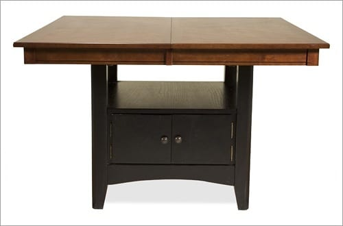 square dining table with storage