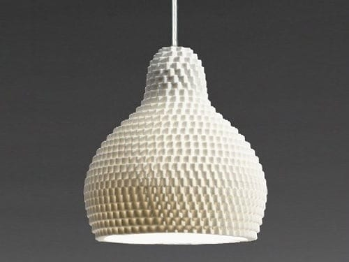 white hive pendant light