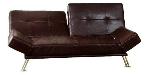 convertible leather loveseat