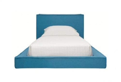 blue twin bed