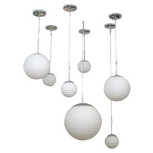 french globe hanging lights