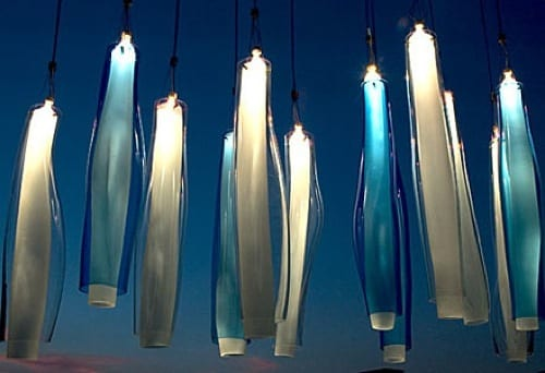 abstract hanging glass lights