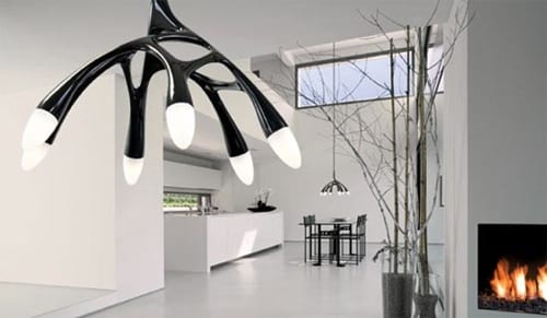modern antler hanging light