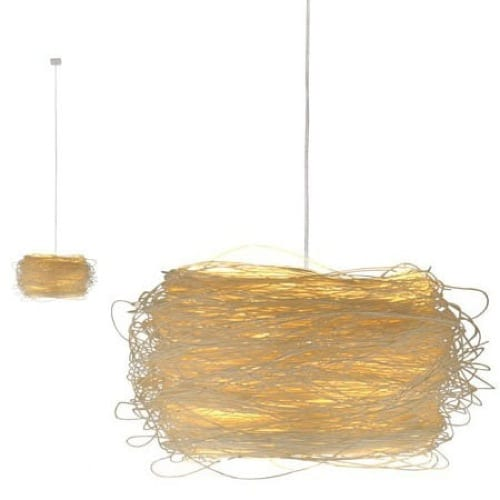 natural fiber hanging lamp
