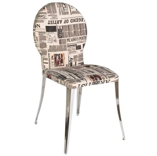 newsprint dining chair