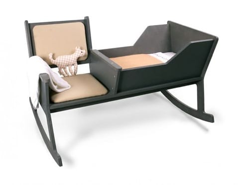 rocking chair and cradle combo