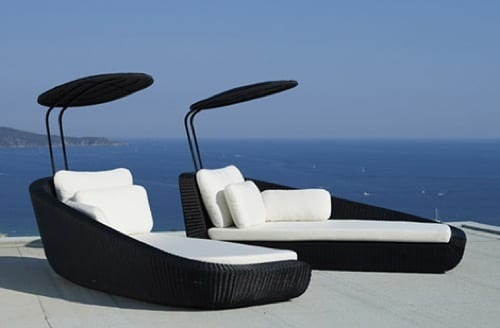 luxurious patio chaise lounge