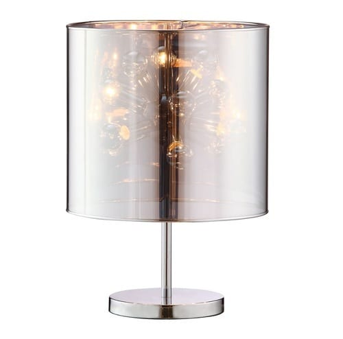 lamp with mirrored shade