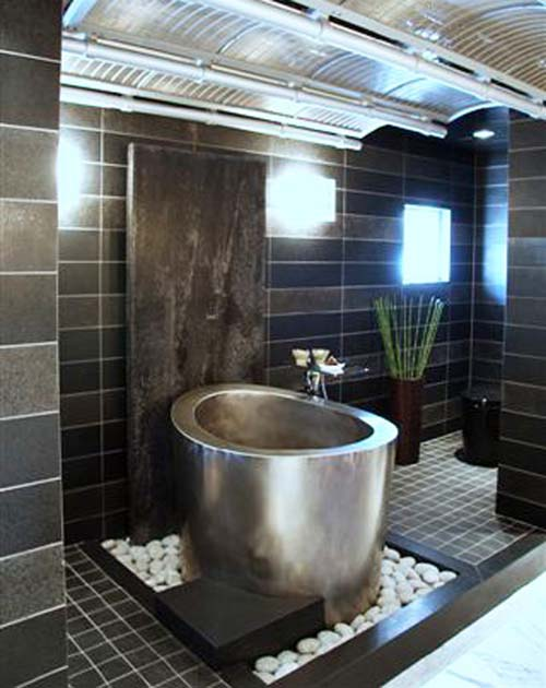 metal japanese tub