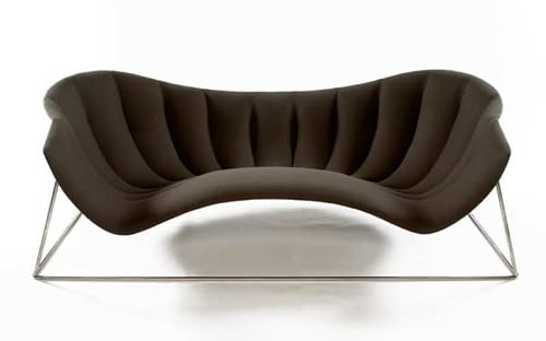 shell-shaped love seat