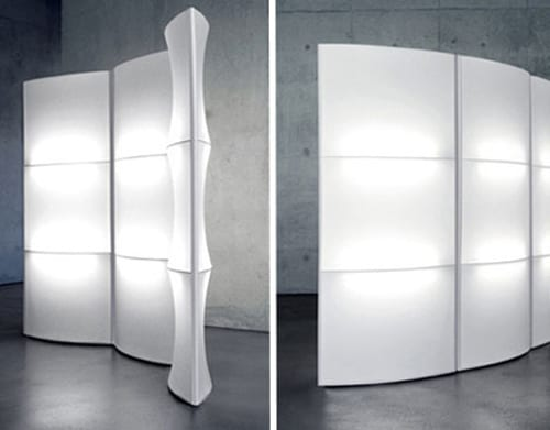 illuminated room divider