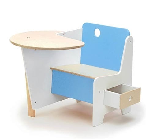 blue children's desk